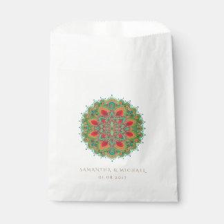 The Green Mandala Wedding Favor Bag