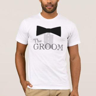The Groom Bow Tie Shirt