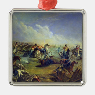 The Guard hussars attacking near Warsaw Christmas Ornament