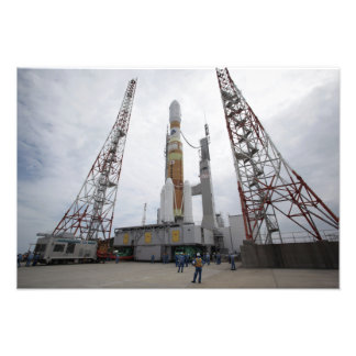 The H-IIB rocket on the launch pad Art Photo