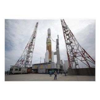 The H-IIB rocket on the launch pad Art Photo
