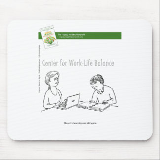 The Happy, Healthy Nonprofit Cartoon Mouse Pads