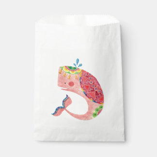 The Happy Pink Whale Favour Bags