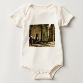 The Harlem woman who at the courtyard does the fee Baby Bodysuit