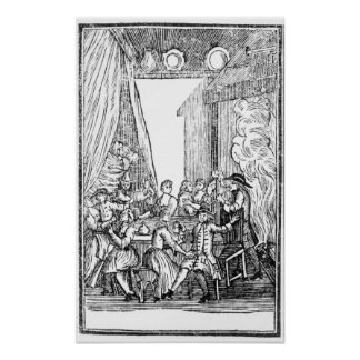 The Harvest Supper, from the Roxburghe Ballads Print