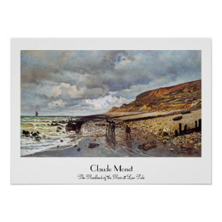 The Headland of the Heve at Low Tide Claude Monet Poster
