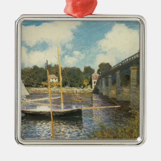 The Highway Bridge at Argenteuil by Claude Monet Christmas Ornament