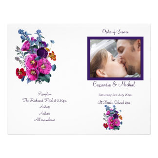 The Hollyhocks Collection Wedding Programme