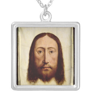The Holy Face, c.1450-60 Silver Plated Necklace