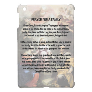 The Holy Family and the Prayer for a Family Cover For The iPad Mini