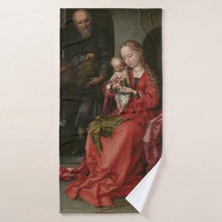 """The Holy Family"" art bath towel"