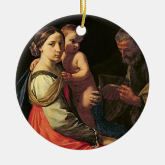 The Holy Family (oil on canvas) 2 Christmas Ornament
