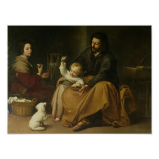 The Holy Family with the Little Bird, c.1650 Poster