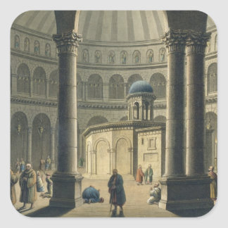 The Holy Sepulchre, pub. by William Watts, 1806 (e Square Sticker