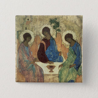 The Holy Trinity, 1420s 15 Cm Square Badge