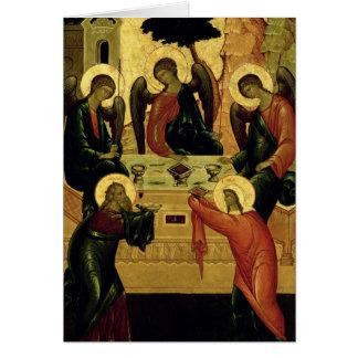 The Holy Trinity, Novgorod School, 15th century Card