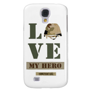 "The Homefront Girl™ Brand ""Love MY Hero"" design Galaxy S4 Case"