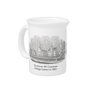 The Homer NY Commons in 1842 Pitcher & Creamer