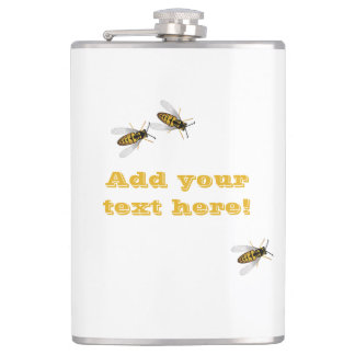 The Honeycomb and Bees Hip Flask