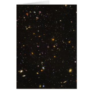 The Hubble Ultra Deep Field Space Image Card
