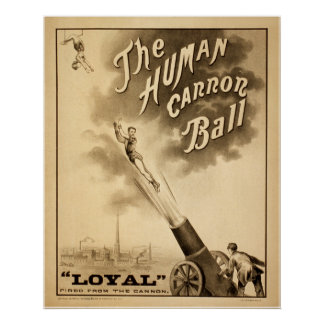 The Human Cannon Ball Print
