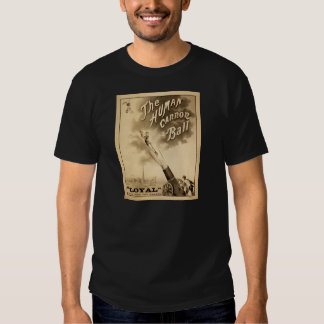 The Human Cannonball Vintage Circus Poster 1897 Tshirt