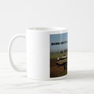 The human inside the tank will win - Latin Coffee Mug