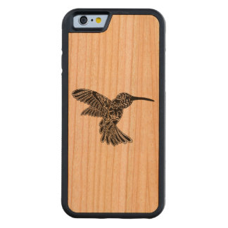 The Hummingbird Carved Cherry iPhone 6 Bumper Case