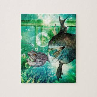 The hunter and hunted in the underwater world puzzles