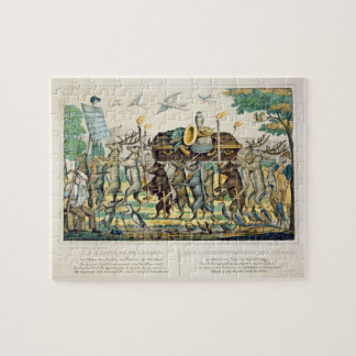 The Hunter's Procession, c.1850 (hand coloured lit Puzzles