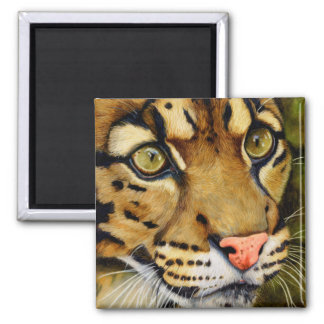 The Huntress - Clouded leopard Square Magnet