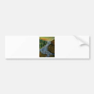 The Icebound Waterfall Bumper Sticker
