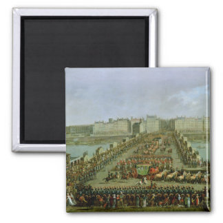 The Imperial Procession Square Magnet