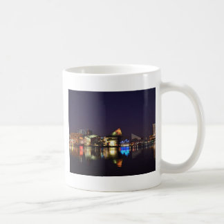 The Inner Harbor of Baltimore at Night Coffee Mug