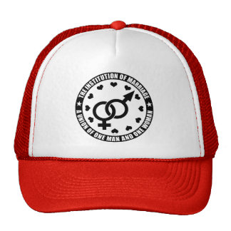 The Institution of Marriage Mesh Hats