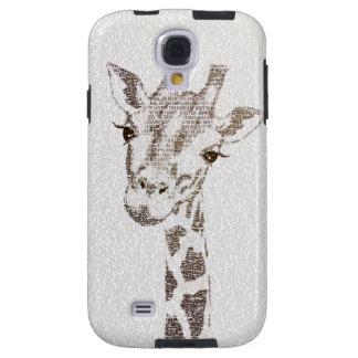 The Intellectual Giraffe - typography art Galaxy S4 Case