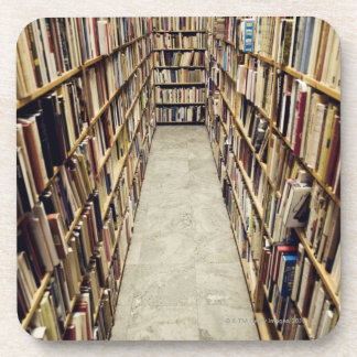 The interior of a second-hand bookshop Sweden. Coaster