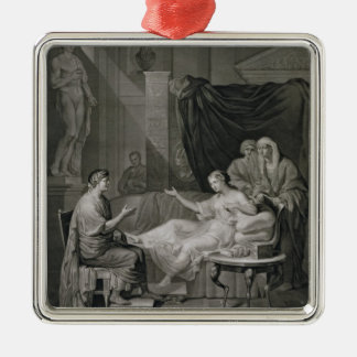 The Interview of Augustus and Cleopatra, engraved Christmas Ornament