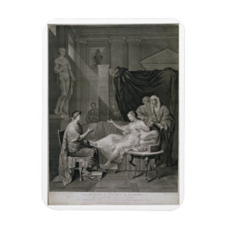 The Interview of Augustus and Cleopatra, engraved Magnet