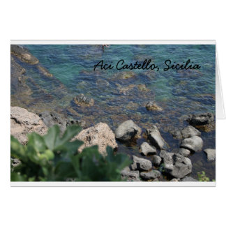 The Ionian Sea from Aci Castello Sicliy Card