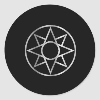 The Ishtar star Mesopotamian Classic Round Sticker
