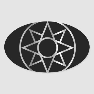 The Ishtar star Mesopotamian Oval Sticker
