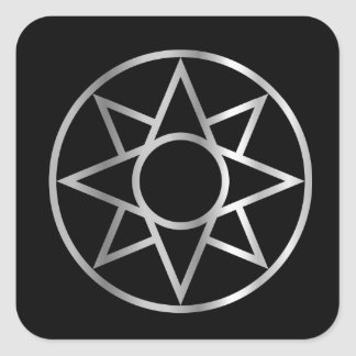 The Ishtar star Mesopotamian Square Sticker