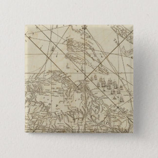 The Island of Cuba with part of the Bahama Banks 15 Cm Square Badge