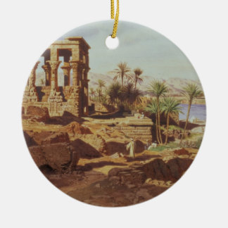 The Island of Philae, 1866 (w/c) Christmas Ornament