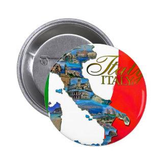 "The Italian ""Boot"" 6 Cm Round Badge"
