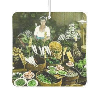 The Japanese Farmers Market Fall Harvest Vintage Car Air Freshener