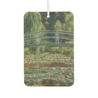 The Japanese Footbridge and the Water Lily Pool Car Air Freshener