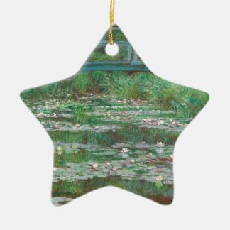 The Japanese Footbridge by Claude Monet Christmas Ornament