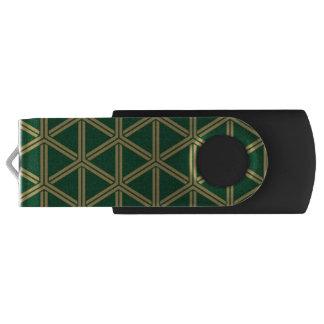 The Japanese traditional pattern group tortoise sh Swivel USB 3.0 Flash Drive